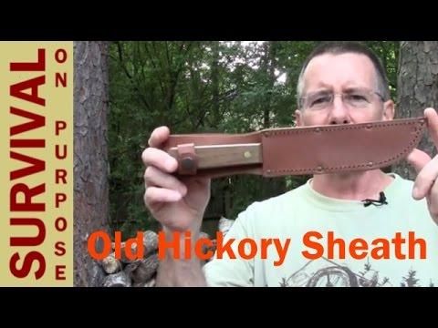 Old Hickory Butcher Knife Sheath - $10 Kabar Leather Sheath