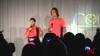 Rising Con - Jared & Jensen Sunday panel - Dancing + Yee-haw