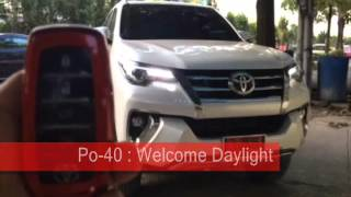 Po-40 : Remote Control Auto Side Mirror : Remote Welcome Light Lamp REVO / New Fortuner 2015