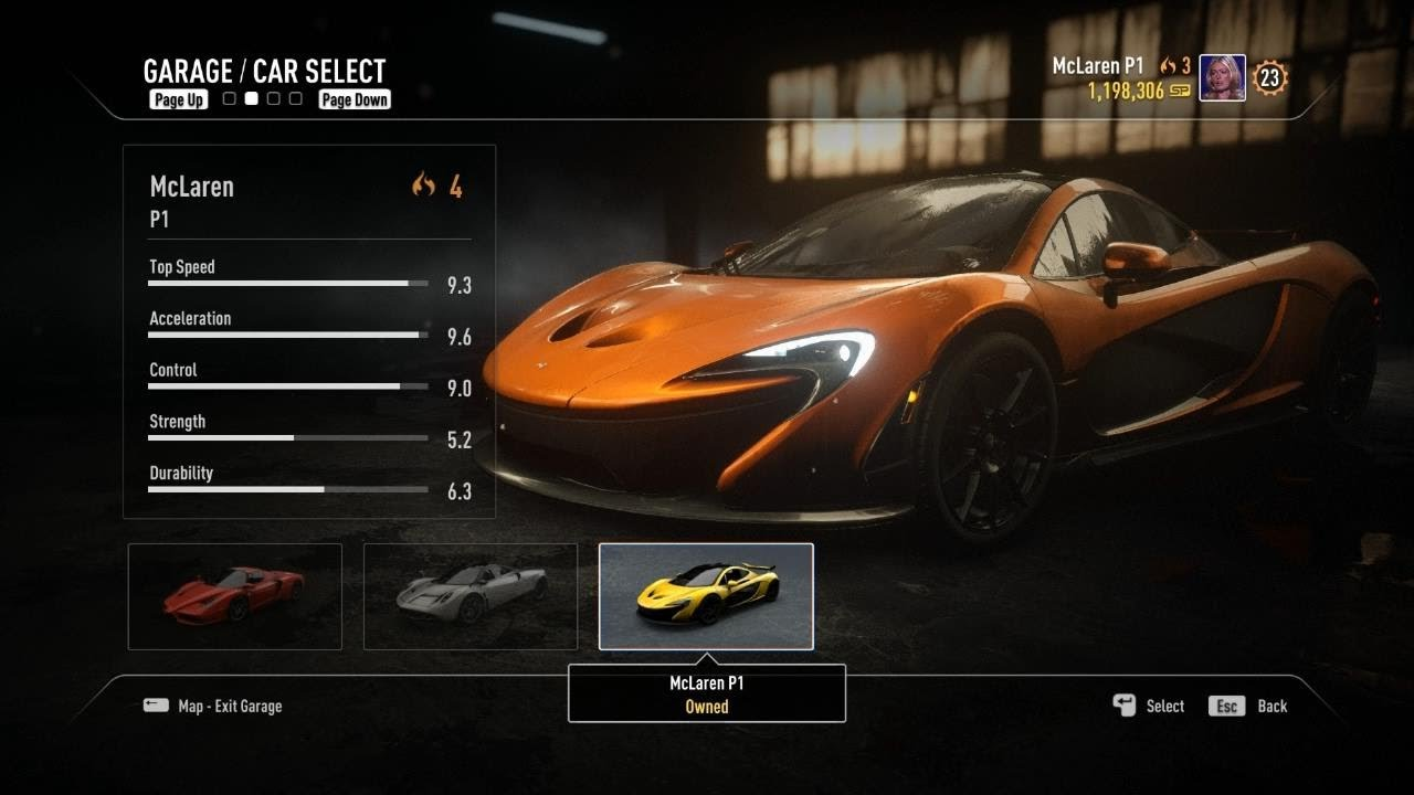 Need For Speed Rivals All Fully Upgraded Racer Cars