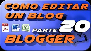 Como colocar PDF Word o Excel en el blog Blogger