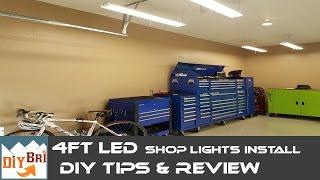 Installing Led Shop Light   Easy How to Instructions   4FT LED Shop Lights