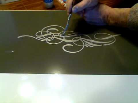 scroll pinstriping closeup