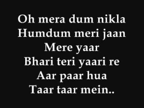 O Yaara - shaitan - lyrics