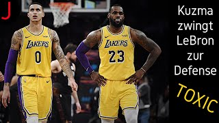 Kuzma zwingt LeBron zur Defense! Die TOXISCHE Situation bei den Lakers!