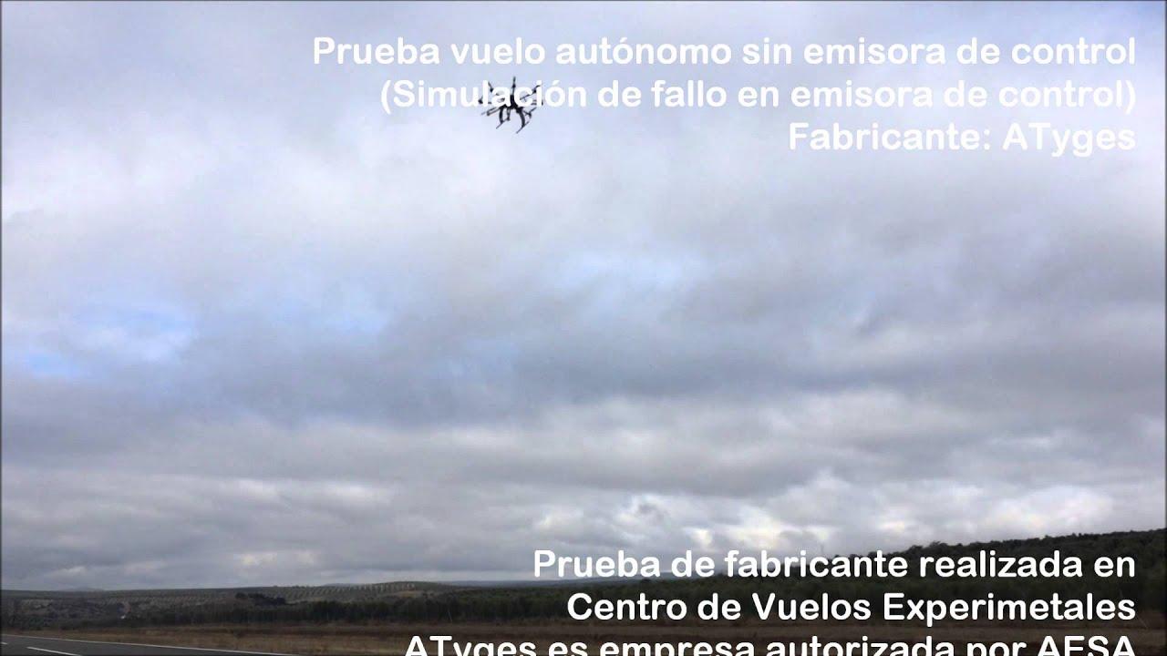 Drone fv8 atyges prueba p rdida se al de control youtube for Perdida de senal tv