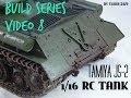 Tamiya JS-2 1/16 RC Tank Build Series Video 8