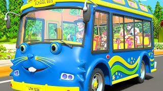 Blue Wheels On The Bus - Kids Nursery Rhymes Songs by Little Treehouse