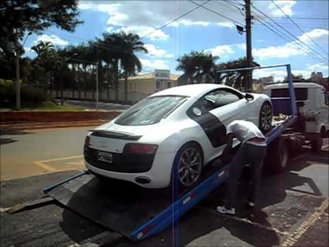 Audi R8 V10 (532 CV) Starp up and Acceleration Sound !! Desembarcando em Goiânia na M3 Motors