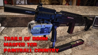Magfed Paintball Tippmann TCR Sniper Rifle ZoomCam at Paintball Country Rec ball Trails of Doom