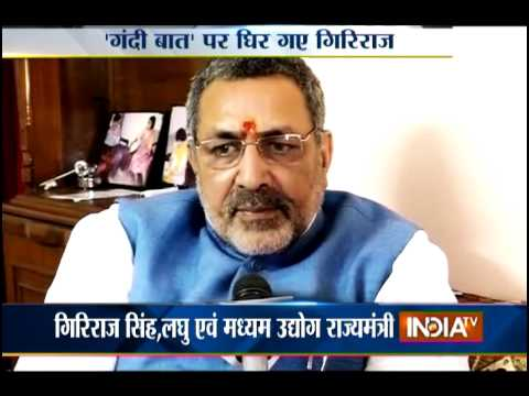 Giriraj Singh tenders apology over his racial comments on Sonia Gandhi