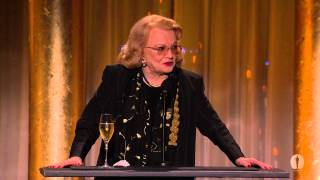 Gena Rowlands honors Angelina Jolie at the 2013 Governors Awards
