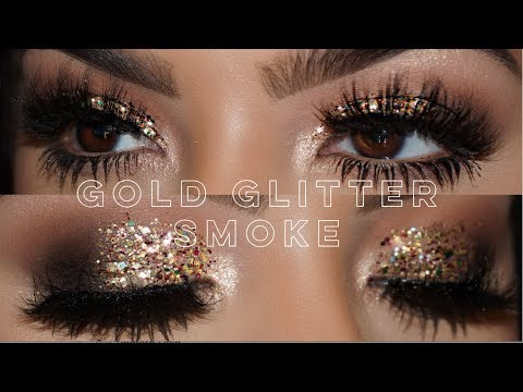 Gold Glitter Smokey Eye    Jessie James Decker Palette