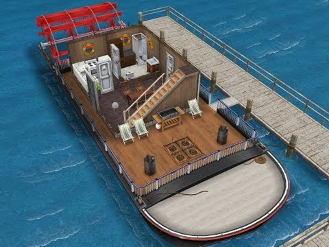 The Cavernous Cruiser (Economy Houseboat)- Sims FreePlay