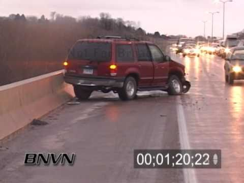1/1/2005 Cars Wreck In An Ice Storm video