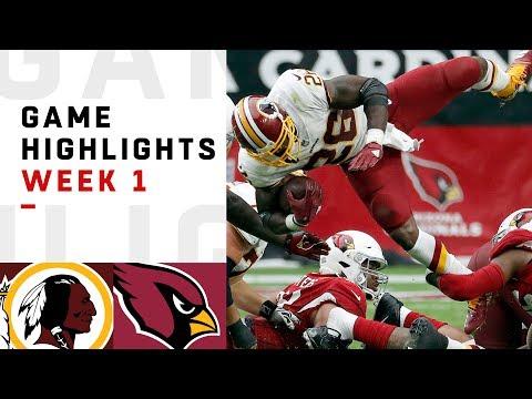 Redskins vs. Cardinals Week 1 Highlights | NFL 2018