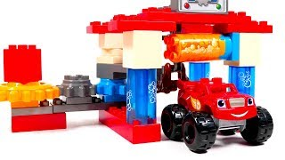 Putting Together and Playing with Blaze and The Monster Machines Car Wash Playset for Kids | Opening