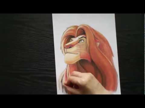Видео как нарисовать Короля Льва