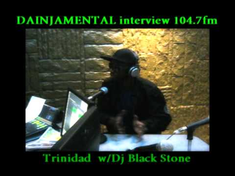 DAINJAMENTAL interview 104 7 more fm TRINIDAD march 2011