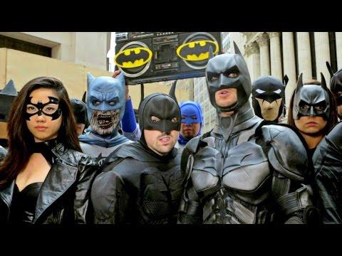 BATMAN vs BANE: EPIC FLASH MOB TAKES OVER NYC!