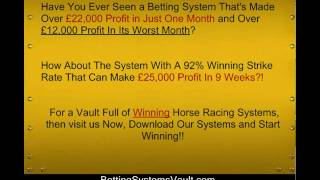 Recent Winners Horse Racing System from http://BettingSystemsVault.com