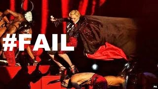 Madonna Video - MADONNA FALLS DOWN STAIRS! @ BRIT AWARDS 2015 #FAIL