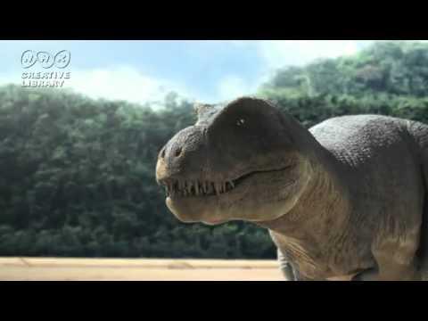 ティラノサウルスとデイノスクスに追い詰められたクリトサウルス  Kritosaurus that has been cornered in Tyrannosaurus and deinosuchus