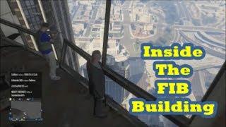 GTA 5 Online - How to get Inside the FIB Building Glitch (GTA V)
