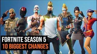 10 Biggest Changes In Fortnite Season 5