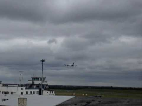a380 fly over at birmingham airport