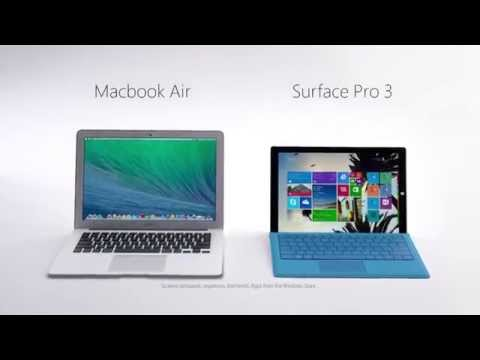 Surface Pro 3  vs. MacBook Air -- Head to Head Commercial