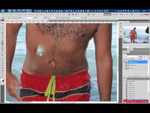 Creare addominali scolpiti con Photoshop