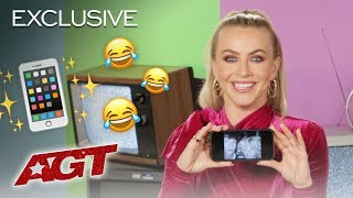 LOL! Julianne Hough Reveals What's In Her Phone - America's Got Talent 2019