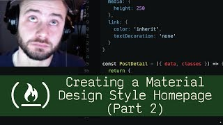 Creating a Material Design Style Homepage Part 2 (P5D17) - Live Coding with Jesse