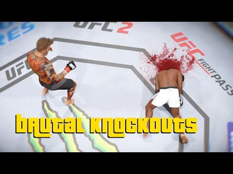 EA Sports UFC 2 - Best Brutal Knockouts Compilation #1