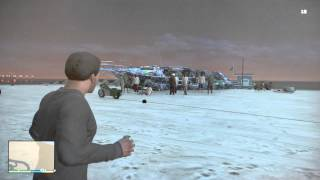 Killing a Dozen Drunk Beach Bums with One Grenade GTA V