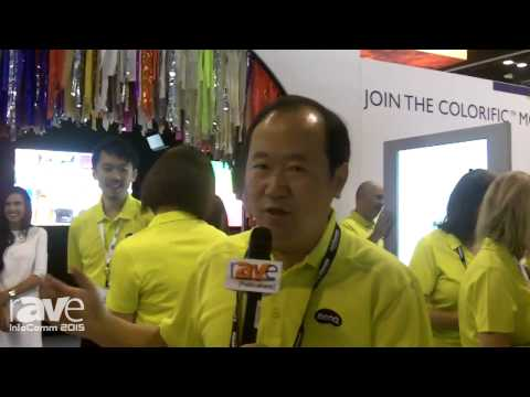 InfoComm 2015: BenQ Latin America President Peter Tan Gives an Overview of the Company in Spanish