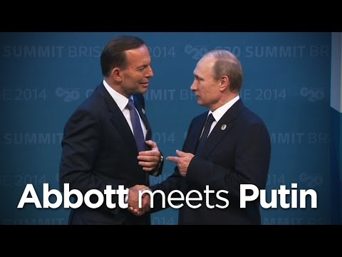 Tony Abbott meets Vladimir Putin at G20