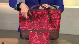 Liz Claiborne New York Paisley Print Tote Bag with Stacey Stauffer