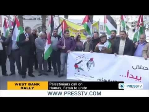 PALESTINE -- West Bank: Palestinians Call on Hamas & Fatah to Unite