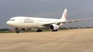 cambodia dragon air 2018 | cambodia airport | The landing of Dragon Airways(flght HKG) in cambodia