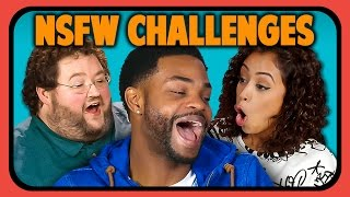 YOUTUBERS REACT TO NSFW CHALLENGES (one finger selfie, grey sweatpants, dickliner)