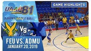 UAAP 81 Jrs Basketball: FEU vs. ADMU | Game Highlights | January 20, 2019