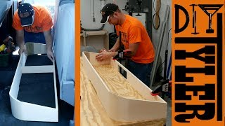 Under Seat Truck Storage | Bent Plywood Storage Organizer!
