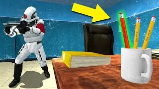 Hiding As The SMALLEST Prop Ever! - Gmod Prop Hunt