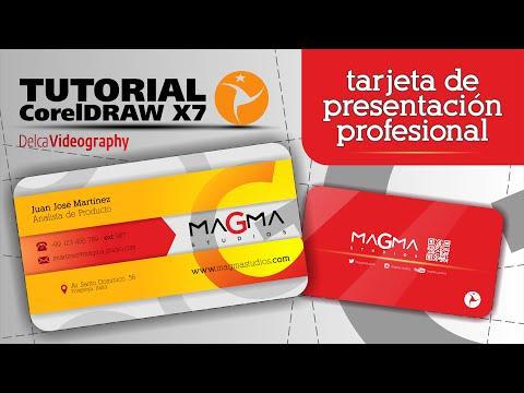 CorelDraw X7 Tutorial 14: TARJETA DE PRESENTACIÓN PROFESIONAL / CREATE YOUR OWN BUSINESS CARD