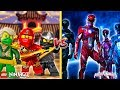 Minecraft LEGO NINJAGO VS THE POWER RANGERS - WHO IS THE BEST??