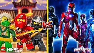 Minecraft LEGO NINJAGO VS THE POWER RANGERS - WHO IS THE BEST??