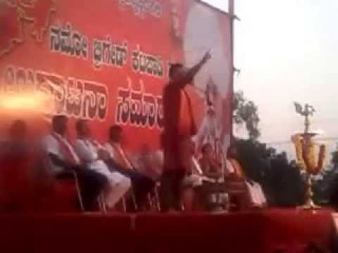 Chakravarthy sulibele speach in Namo Brigade innaguration function at Katapady Palligudde Ground