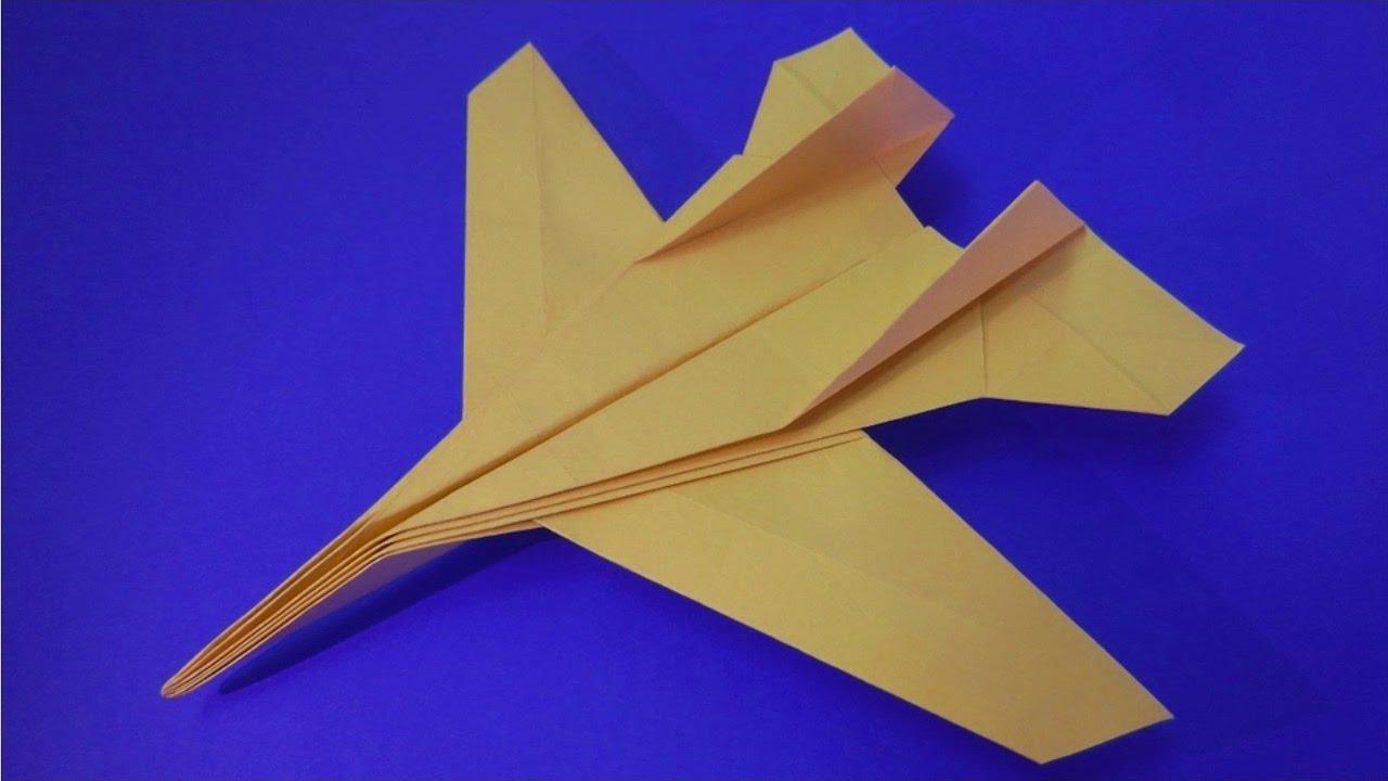 Как сделать очень классный самолет из бумаги